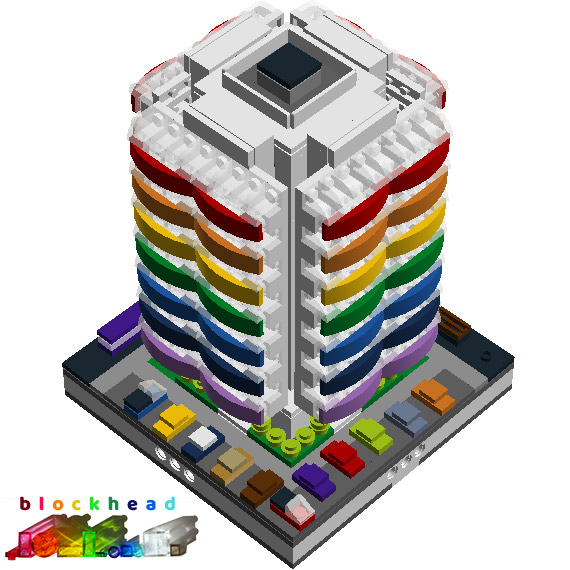 Virtual MOC Rainbow Tower Rear