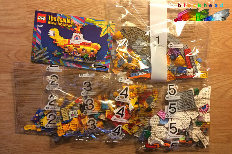 21306 Yellow Submarine Parts Bags