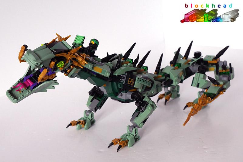 70612 Green Ninja Mech Dragon Built