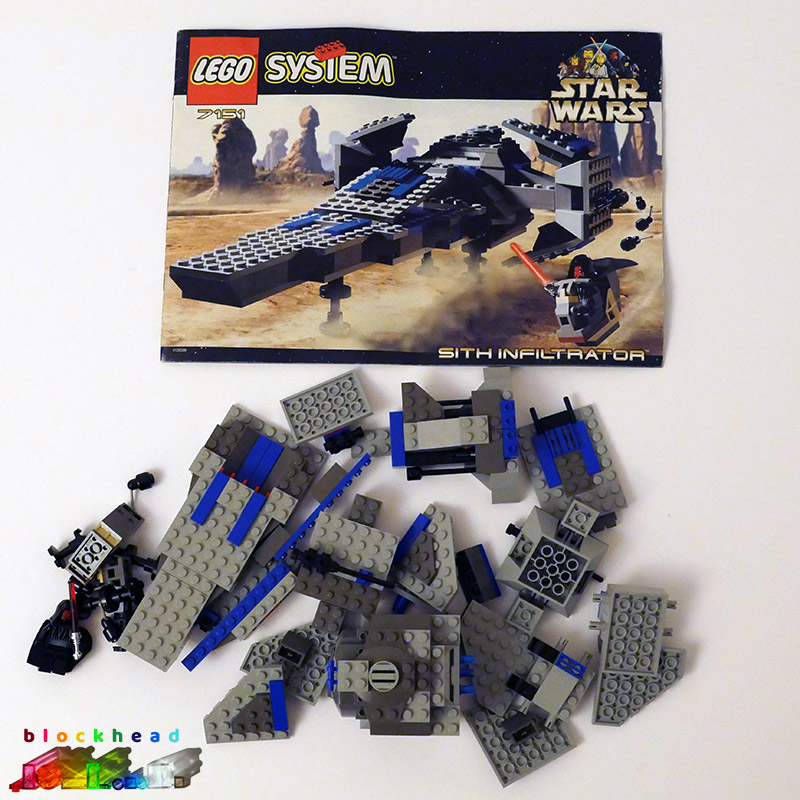 7151 Sith Infiltrator Parts