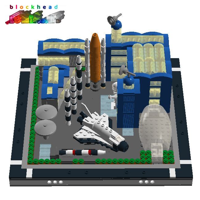 VIrtual MOC: Micropolis Air & Space Museum Designed In LDD