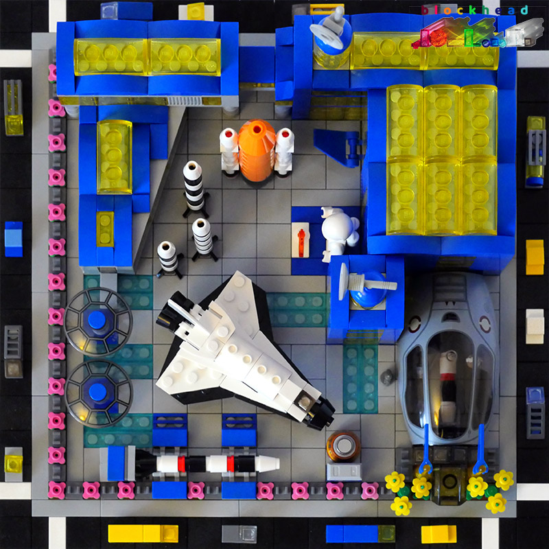 MOC - Air & Space Museum Overhead View