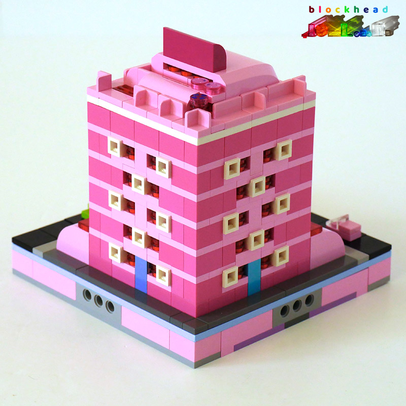 MOC: Raspberry House - Rear