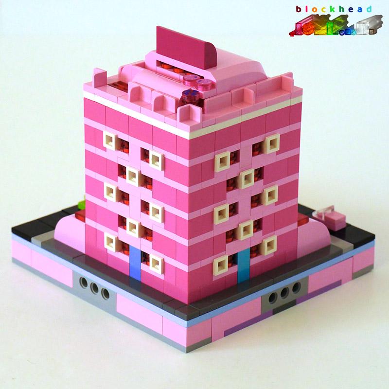 MOC: Raspberry House - Rear