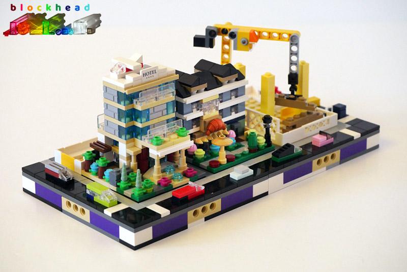 Bricktober Court - 1/2 Micropolis Block - Front Left