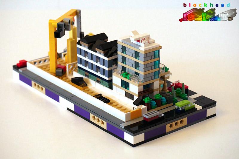 Bricktober Court - 1/2 Micropolis Block - Back Right