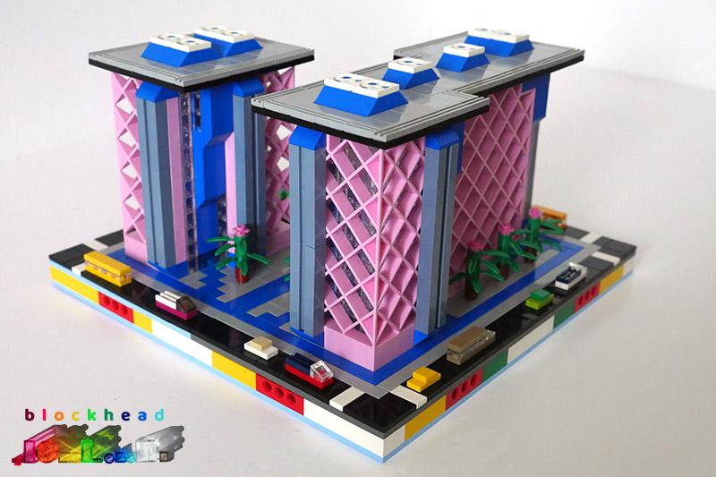 MOC Belville Place Complete Block - Rear