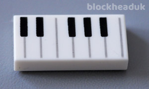 1x2 Piano Keybaord Tile