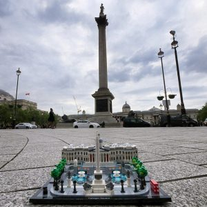 LEGO Trafalgar Square & Nelson's Column on a dull evening
