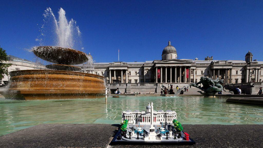 LEGO Trafalgar Square On A Sunny Day