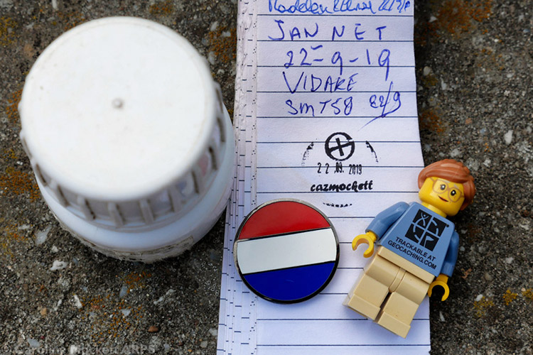 1st Geocache in The Netherlands - Country No. 4 today