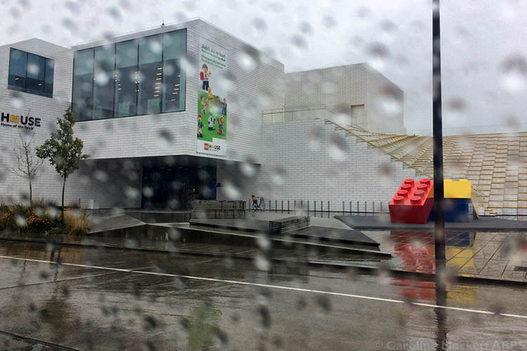 Rainy Arrival At LEGO House